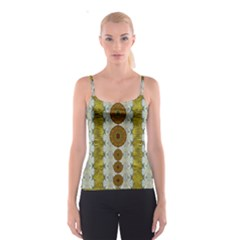 Spring In Mind And Flowers In Soul Be Happy Spaghetti Strap Top
