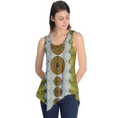 Spring In Mind And Flowers In Soul Be Happy Sleeveless Tunic