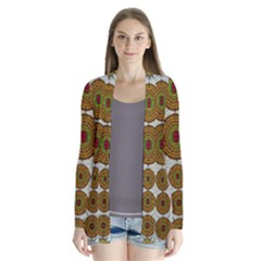 Spring In Mind And Flowers In Soul Be Happy Drape Collar Cardigan