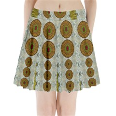 Spring In Mind And Flowers In Soul Be Happy Pleated Mini Skirt