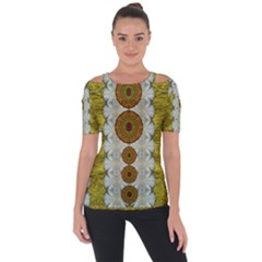 Spring In Mind And Flowers In Soul Be Happy Short Sleeve Top
