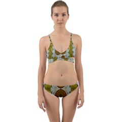 Spring In Mind And Flowers In Soul Be Happy Wrap Around Bikini Set
