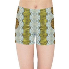 Spring In Mind And Flowers In Soul Be Happy Kids Sports Shorts