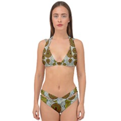 Spring In Mind And Flowers In Soul Be Happy Double Strap Halter Bikini Set