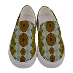 Spring In Mind And Flowers In Soul Be Happy Women s Canvas Slip Ons