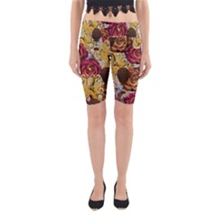 Octopus Floral Yoga Cropped Leggings