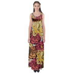 Octopus Floral Empire Waist Maxi Dress