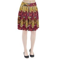 Octopus Floral Pleated Skirt