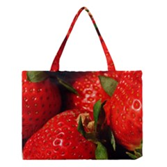 Red Strawberries Medium Tote Bag