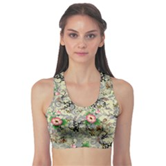 Angel Floral Sports Bra