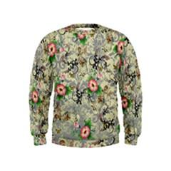 Angel Floral Kids  Sweatshirt