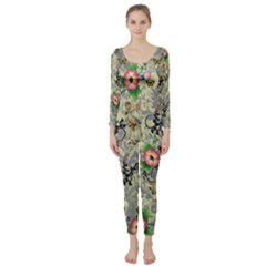 Angel Floral Long Sleeve Catsuit