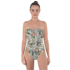 Angel Floral Tie Back One Piece Swimsuit