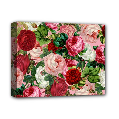 Rose Bushes Deluxe Canvas 14  X 11