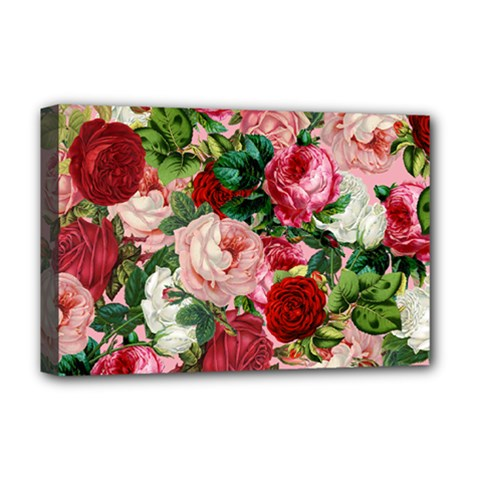 Rose Bushes Deluxe Canvas 18  X 12