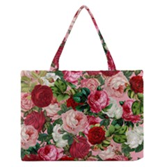 Rose Bushes Zipper Medium Tote Bag