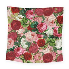 Rose Bushes Square Tapestry (large)