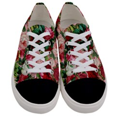 Rose Bushes Women s Low Top Canvas Sneakers
