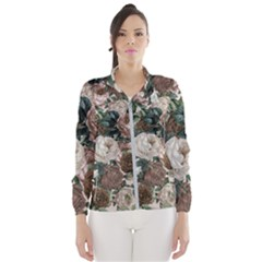 Rose Bushes Brown Wind Breaker (women)