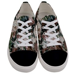 Rose Bushes Brown Women s Low Top Canvas Sneakers
