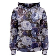 Rose Bushes Blue Women s Pullover Hoodie