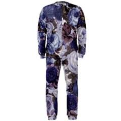 Rose Bushes Blue Onepiece Jumpsuit (men)