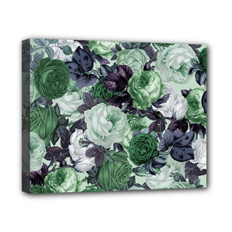 Rose Bushes Green Canvas 10  X 8