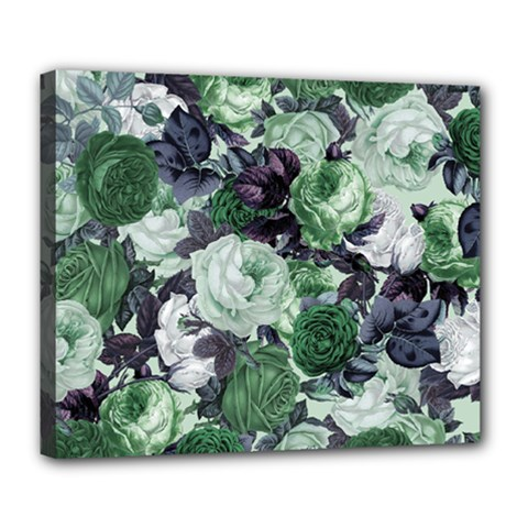 Rose Bushes Green Deluxe Canvas 24  X 20