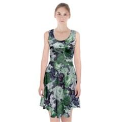 Rose Bushes Green Racerback Midi Dress