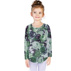 Rose Bushes Green Kids  Long Sleeve Tee