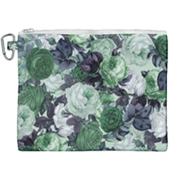 Rose Bushes Green Canvas Cosmetic Bag (xxxl)