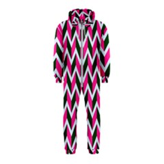 Chevron Pink Green Retro Hooded Jumpsuit (kids)