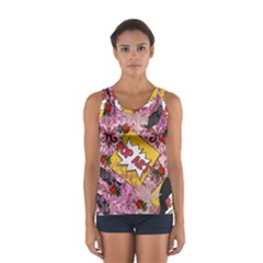 Red Retro Pop Sport Tank Top