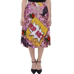 Red Retro Pop Folding Skater Skirt