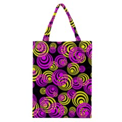 Neon Yellow And Hot Pink Circles Classic Tote Bag