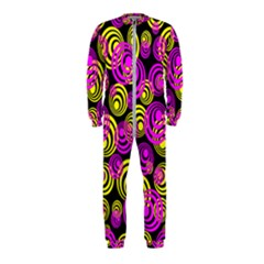Neon Yellow And Hot Pink Circles Onepiece Jumpsuit (kids)