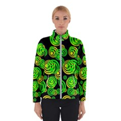 Neon Yellow And Green Circles On Black Winterwear
