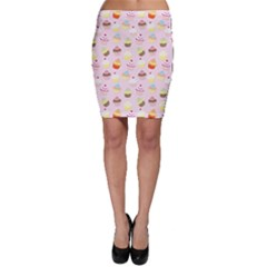 Baby Pink Valentines Cup Cakes Bodycon Skirt