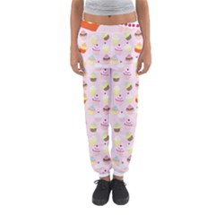 Baby Pink Valentines Cup Cakes Women s Jogger Sweatpants