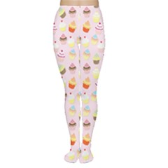 Baby Pink Valentines Cup Cakes Women s Tights