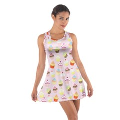 Baby Pink Valentines Cup Cakes Cotton Racerback Dress