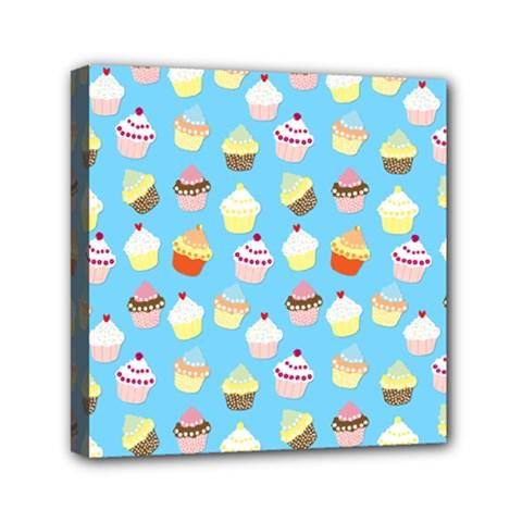 Pale Pastel Blue Cup Cakes Canvas Travel Bag
