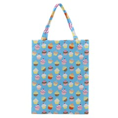 Pale Pastel Blue Cup Cakes Classic Tote Bag