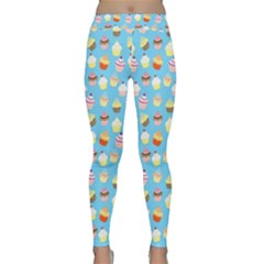 Pale Pastel Blue Cup Cakes Classic Yoga Leggings
