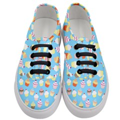 Pale Pastel Blue Cup Cakes Women s Classic Low Top Sneakers