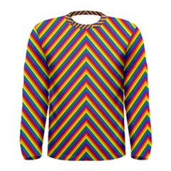 Gay Pride Flag Rainbow Chevron Stripe Men s Long Sleeve Tee