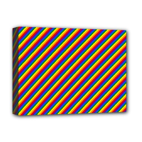 Gay Pride Flag Candy Cane Diagonal Stripe Deluxe Canvas 16  X 12