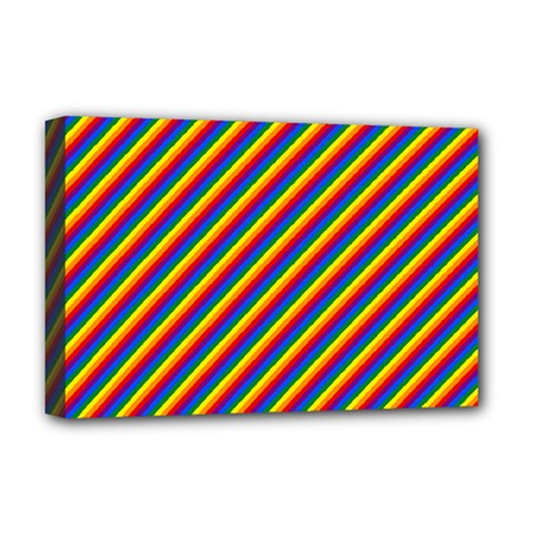 Gay Pride Flag Candy Cane Diagonal Stripe Deluxe Canvas 18  X 12