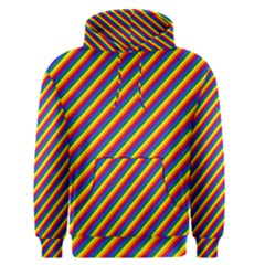 Gay Pride Flag Candy Cane Diagonal Stripe Men s Pullover Hoodie