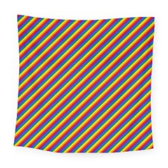 Gay Pride Flag Candy Cane Diagonal Stripe Square Tapestry (large)